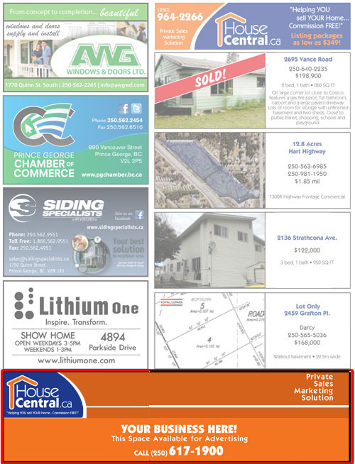 20 x 5 brochure advertisement slot